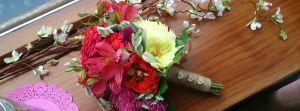 Home Grown Wedding Bouquet August Wedding