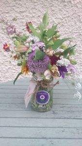 Wildflower Posy Jar by Ditsy Floral Design