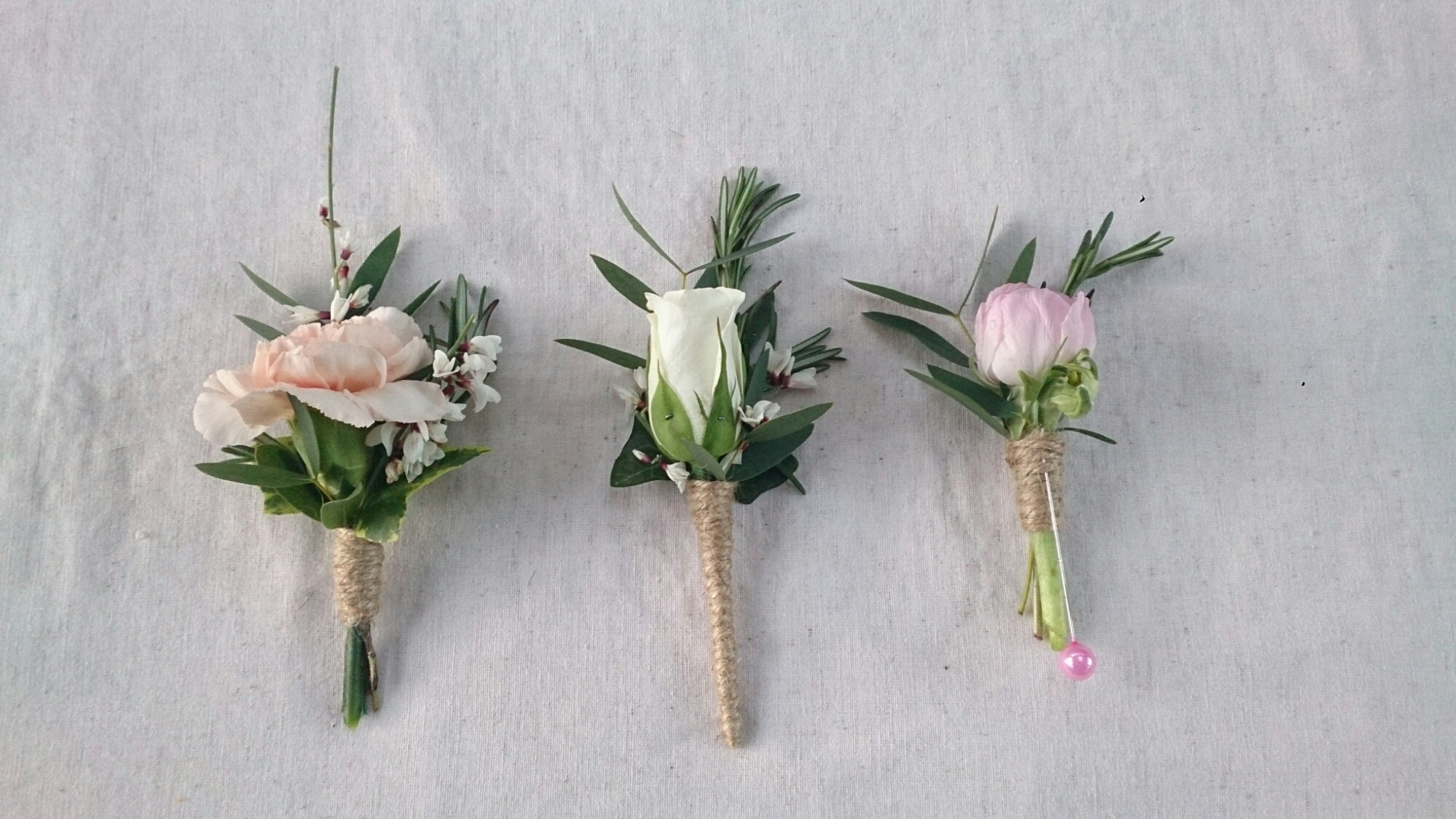 How To Make Wedding Buttonholes: Ditsy Floral Design