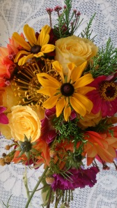 Bright and cheerful handtied bouquet www.ditsyfloraldesign.co.uk