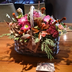 Seasonal Autumn basket www.ditsyfloraldesign.co.uk