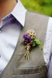 Scabious Seedhead buttonhole