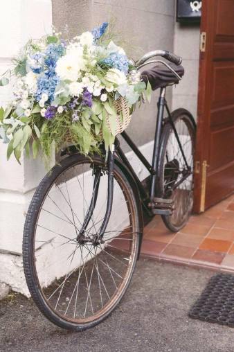Vintage Bike with Basket of Blooms. Chris Semple Photography.
