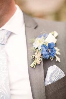 Groom's buttonhole. Chris Semple Photography
